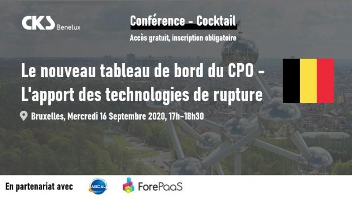 """Conférence - Cocktail CKS Benelux : """"Le nouveau tableau de bord du CPO - L'apport des technologies de rupture""""."""
