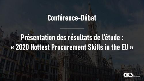"""Conférence - Petit-déjeuner CKS Benelux : Présentation des résultats de l'étude : """"2020 Hottest Procurement Skills in the EU"""""""