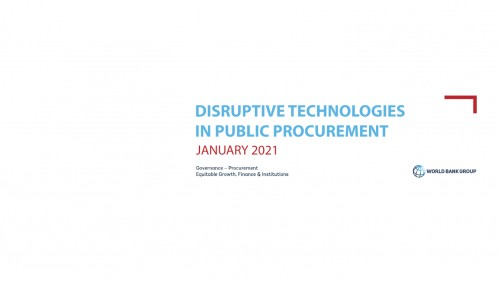 Disruptive technologies in Public Procurement